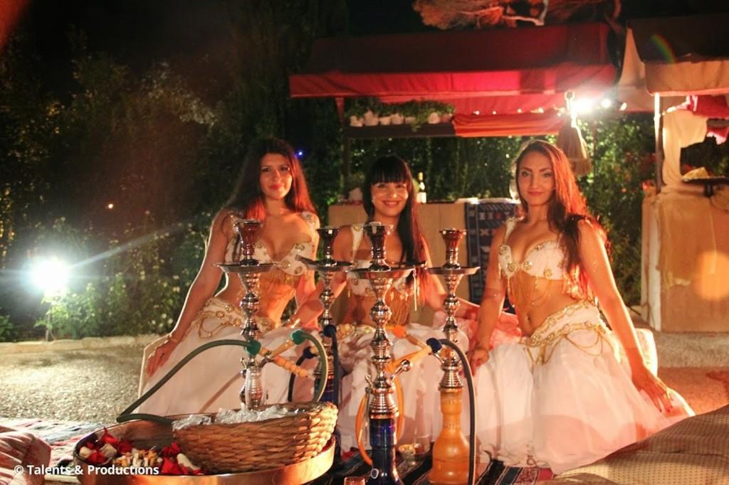 Compagnie Roses des Sables - soiree a theme - 1001 nuits - accueil 5